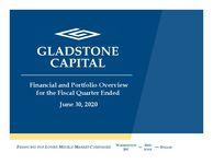 Gladstone Capital Financial and Portfolio Overview – June 30, 2020