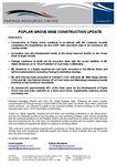 Poplar Grove Mine Construction Update