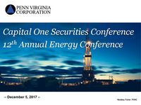 Capital One Securities Conference  12th Annual Energy Conference