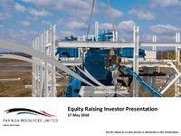 Equity Raising Investor Presentation