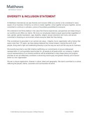 Diversity & Inclusion Statement