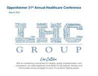 Oppenheimer 31st Annual Healthcare Conference Presentation