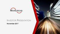 Stifel 2017 Growth Conference Presentation
