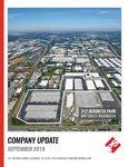 Company Update - September 2019