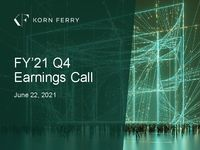 FY'21 Q4 Earnings Call Presentation