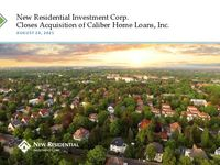 New Residential Investment Corp. Closes Acquisition of Caliber Home Loans, Inc.