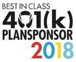 Learn more at https://www.plansponsor.com/awards/2018-best-class-401k-plans/?pid=104786