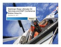 Dahlman Rose Ultimate Oil Service and E&P Conference