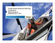 Credit Suisse Small and Mid Cap Conference