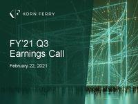 FY'21 Q3 Earnings Call Presentation