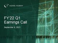 FY'22 Q1 Earnings Call Presentation
