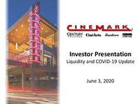 Investor Presentation - Q1 2020 - Liquidity and COVID-19 Update