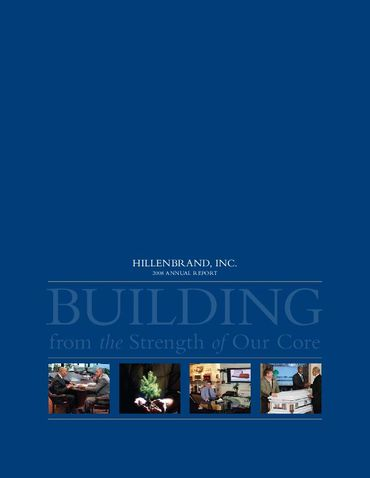 Hillenbrand, Inc. 2008 Annual Report Thumbnail
