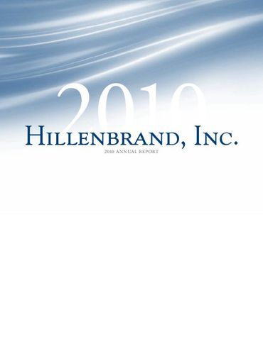 Hillenbrand, Inc. 2010 Annual Report Thumbnail