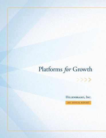 Hillenbrand, Inc. 2011 Annual Report Thumbnail