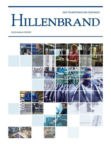Hillenbrand, Inc. 2015 Annual Report Thumbnail