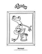 Fresco de Gecko Coloring Page