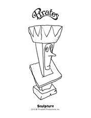Queen Conformia Sculpture Coloring Page