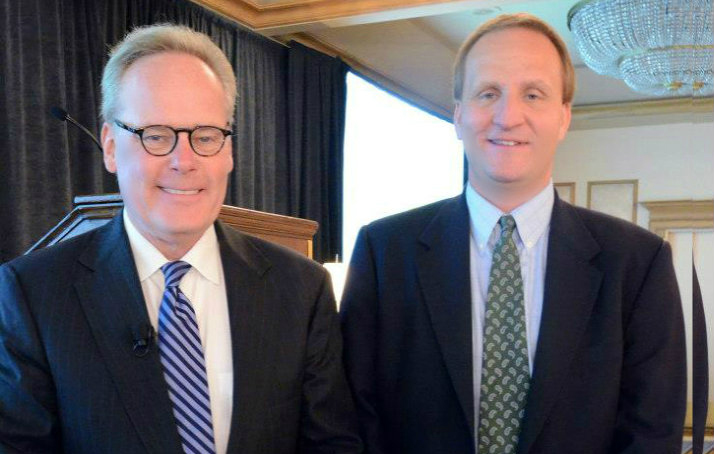 CEO Doug Bathauer and Tyler Mathisen, CNBC, at the Green Initiative Awards