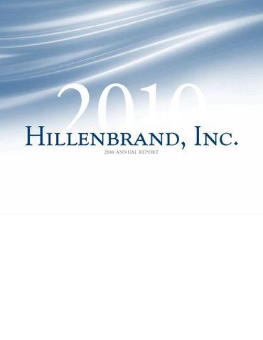 Hillenbrand, Inc. 2010 Annual Report Thumbnail