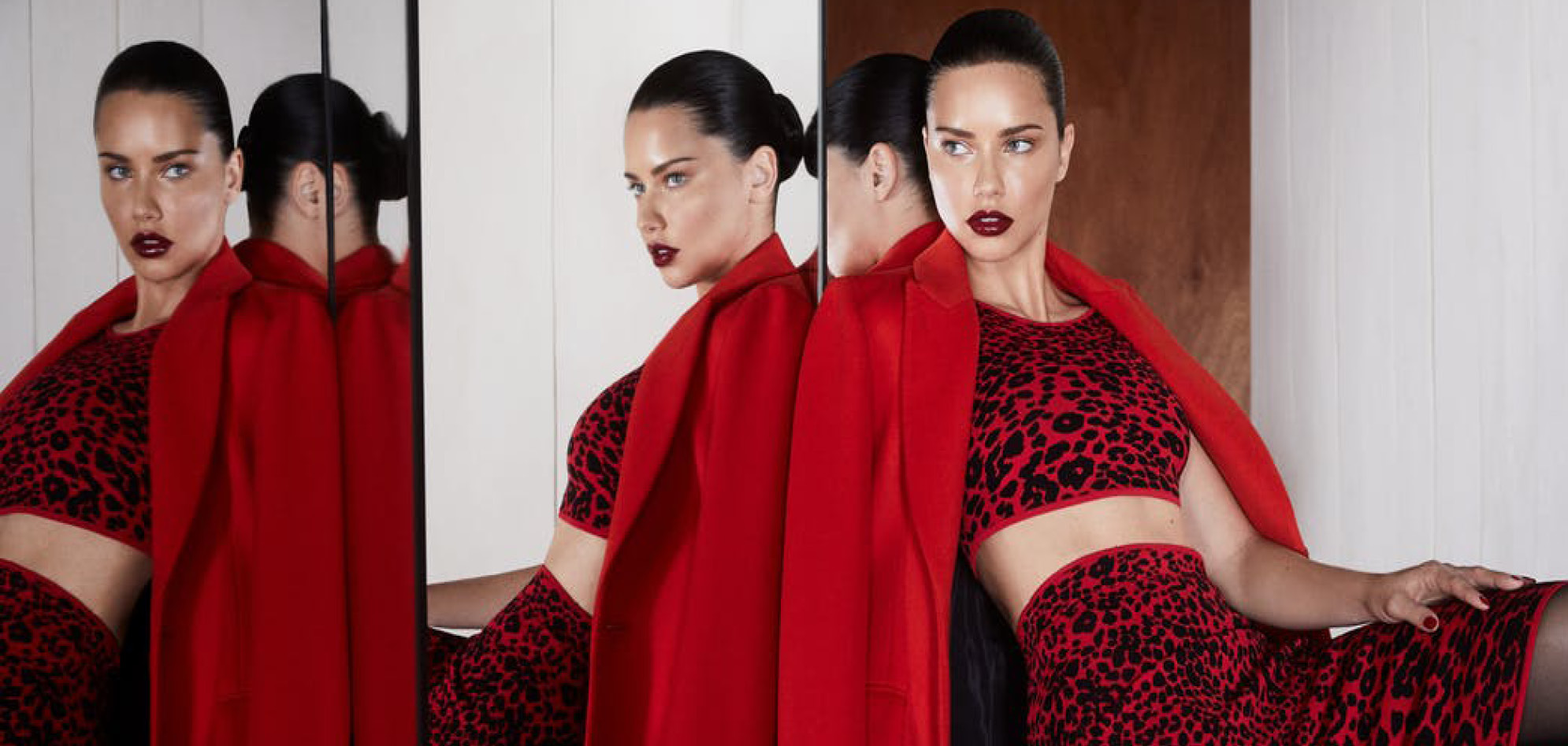 ADRIANA LIMA IS HER OWN MUSE IN BCBGMAXAZRIA'S FALL 2019 CAMPAIGN