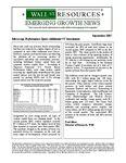 September 2007 Newsletter