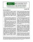 November 2007 Newsletter