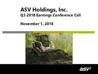 ASV Q3 2018 Update Slides