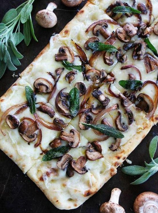 Mushroom Fontina Flatbread