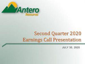 Second Quarter 2020 Earnings Call