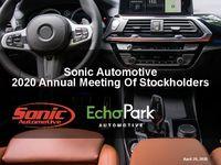 2020 Annual Meeting of Stockholders Presentation
