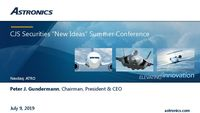 """CJS Securities """"New Ideas"""" Summer Conference"""