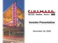 December 2020 Liquidity and COVID-19 Investor Presentation