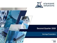 2020 Second Quarter Financial Results Call