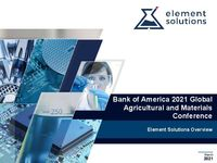Bank of America 2021 Global Agricultural and Materials Conference Presentation