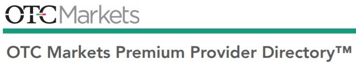 OTC Markets Premium Provider Directory