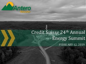 Credit Suisse 24th Annual Energy Summit