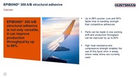 Maximize Productivity and Minimize Costs with New Aerospace Structural Adhesives