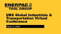 UBS Global Industrials & Transportation Virtual Conference