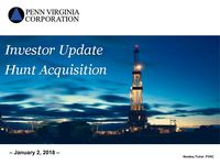 Investor Update - Hunt Acquisition