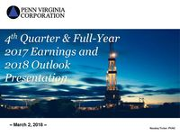 Fourth Quarter 2017 Earnings Presentation