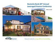 Deutsche Bank 20th Annual Leveraged Finance Conference - Slides