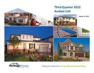 3rd Quarter 2012 Conference Call - Slides