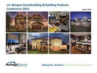 J.P. Morgan Homebuilding & Building Products Conference - Slides