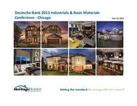 dbAccess 2013 Global Industrials and Basic Materials Conference - Slides