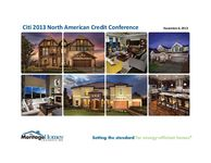 Citigroup North American Credit Conference - Slides