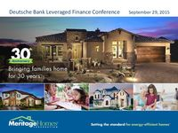 Meritage Homes Corporation at Deutsche Bank 23rd Annual Leveraged Finance Conference