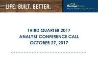 3rd Quarter 2017 Conference Call - Slides