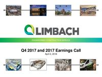 2017 Fourth Quarter Earnings Results Presentation 4 3 18