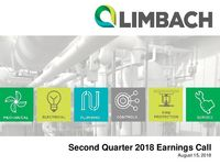 Second Quarter 2018 Earnings Call Presentation